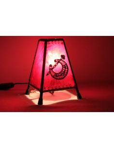 Lampe de table petite jaune Khlel