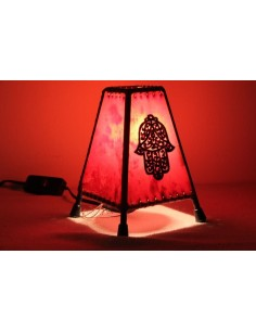 Lampe de table petite rouge broche