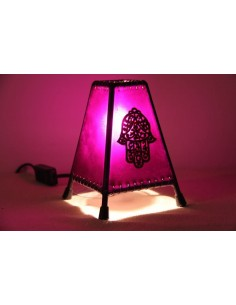 Lampe de table petite orange main