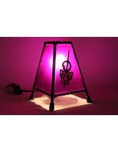 Lampe de table petite turquoise main