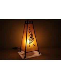 Lampe de table petite mauve Khlel