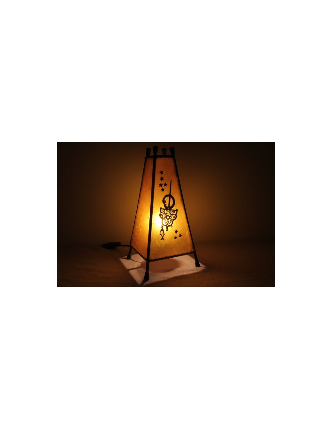 lampe de table moyenne jaune khlel la medina shop. Black Bedroom Furniture Sets. Home Design Ideas
