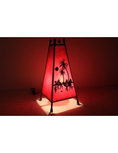 Lampe de table moyenne jaune Khlel