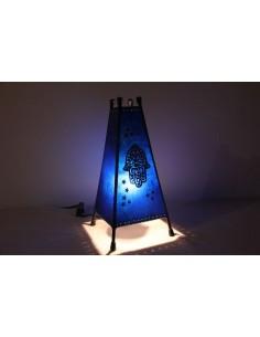 Lampe de table moyenne turquoise Khlel