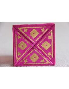 Moroccan change purse rose