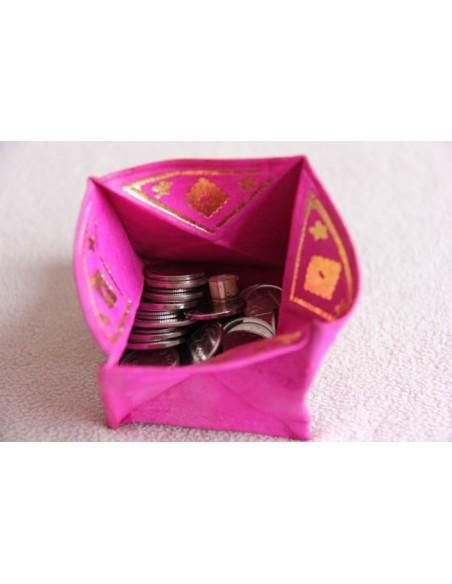 Porte-monnaie marocain rose