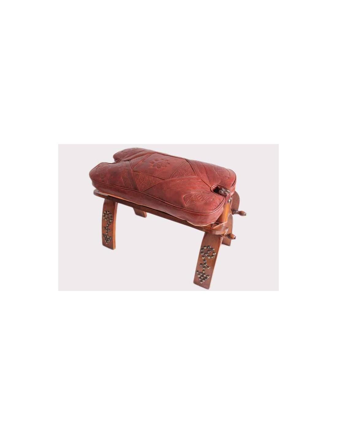 chaise en bois et cuir la medina shop. Black Bedroom Furniture Sets. Home Design Ideas