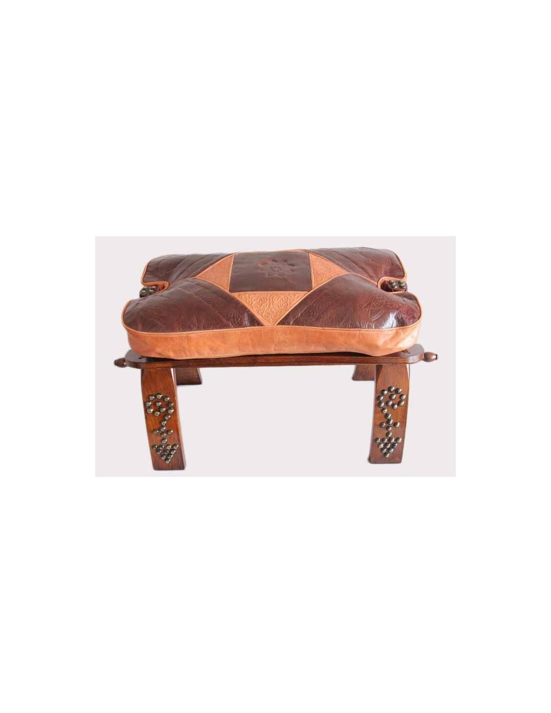 Chaise en bois et cuir la medina shop for Chaise en bois et cuir