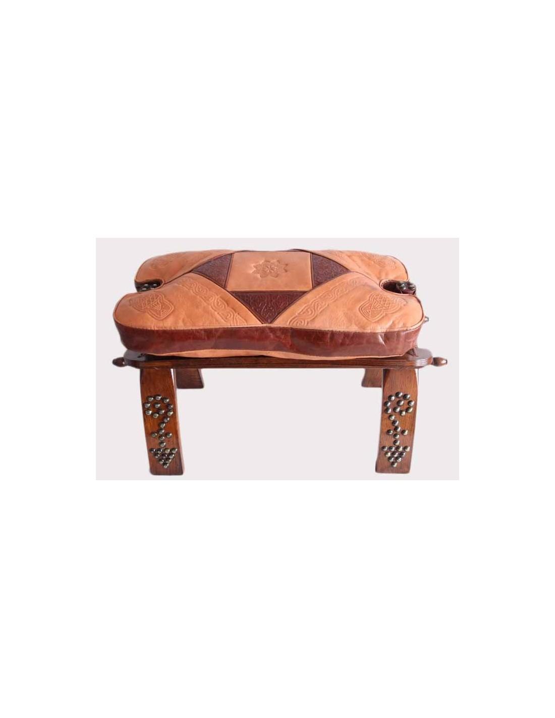 Chaise En Bois Et Cuir La Medina Shop
