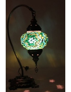 Lampe de table petite verte motif 1