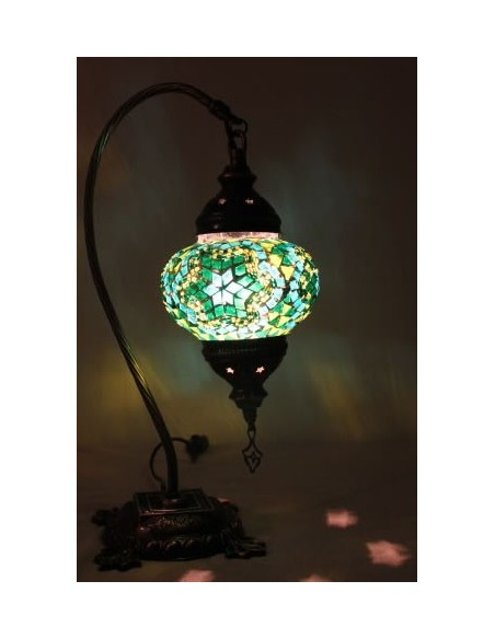 Table lamp small green pattern1