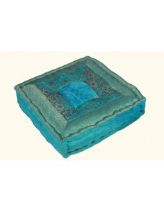 Coussin carré Turquoise PM