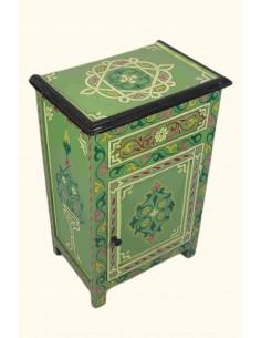 Table de chevet colorée verte