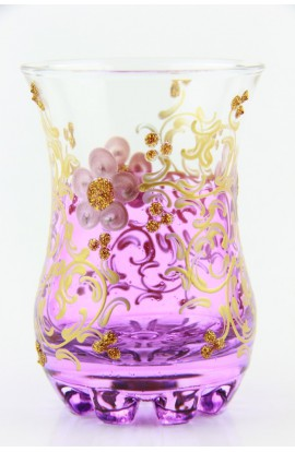 Tea glass pattern 1 red