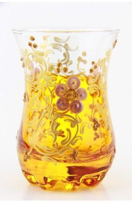 Tea glass pattern 1 green