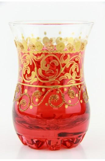 Tea glass pattern 1 yellow