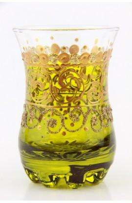 Verre à thé tunisien motif 2 rouge