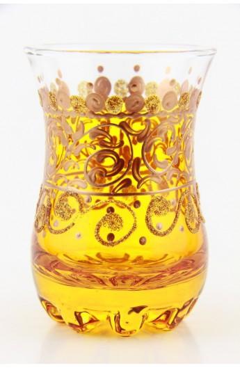 Tea glass pattern 2 red