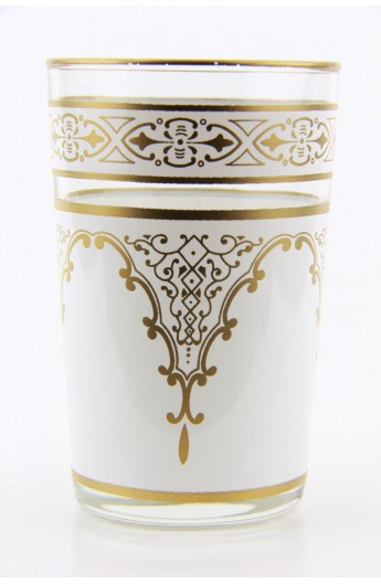 Verre à thé marocain motif 6 vert