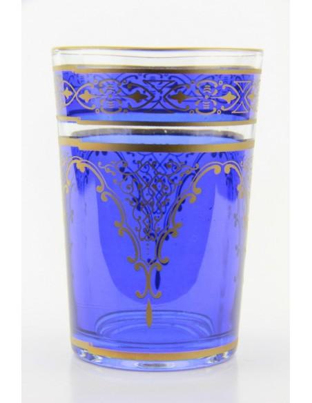 Verre à thé marocain motif 7 blanc