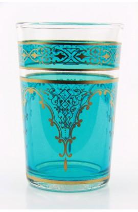 Verre à thé marocain motif 7 orange