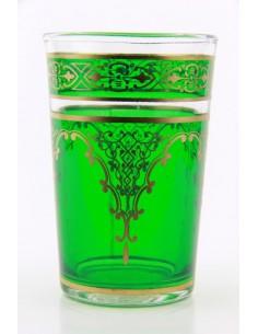 Verre à thé marocain motif 7 turquoise