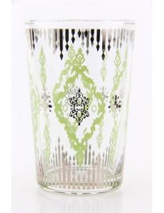 Tea glass pattern 6 green