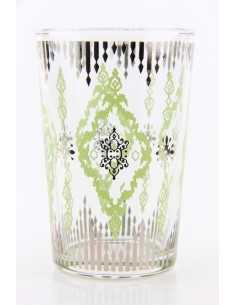 Verre à thé marocain motif 7 vert