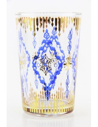 Verre à thé marocain motif 8 beige