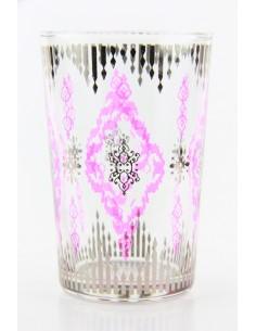 Tea glass pattern 8 purple