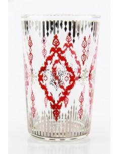 Tea glass pattern 8 pink