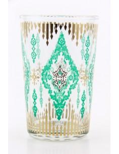 Tea glass pattern 8 red