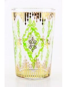 Verre à thé marocain motif 8 vert