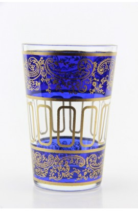 Verre à thé marocain motif 9 bleu