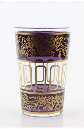 Tea glass pattern 9 blue