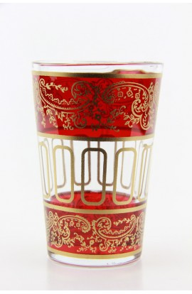 Tea glass pattern 9 pink