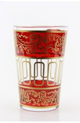 Verre à thé marocain motif 9 rose