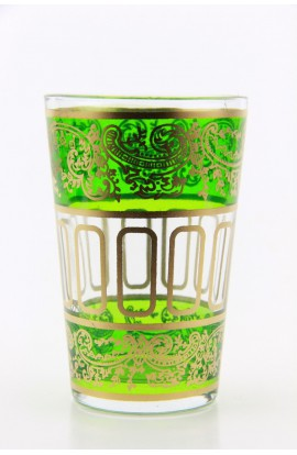 Verre à thé marocain motif 9 vert