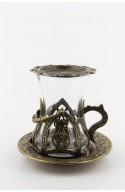 Verre à thé marocain motif 9 rouge