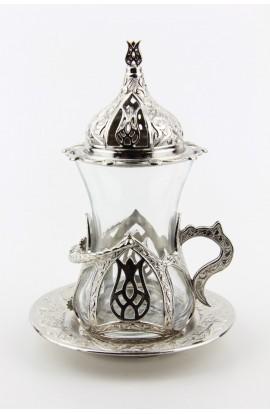 Bronze Turkish tea glass