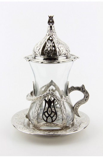 Bronze Turkish tea glass