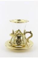 Silver Turkish tea glass