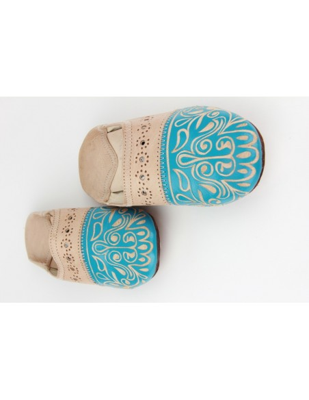 Babouche Mankouch turquoise