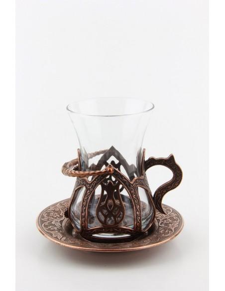 Gold Turkish tea glass