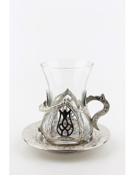 Turkish tea service double bronze