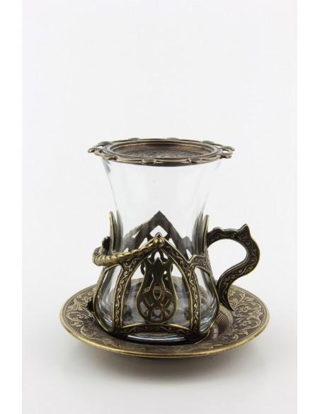 Family Turkish tea service silver