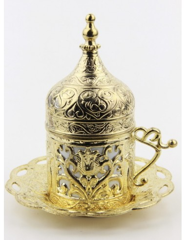 Bronze Turkish tea and coffee glass