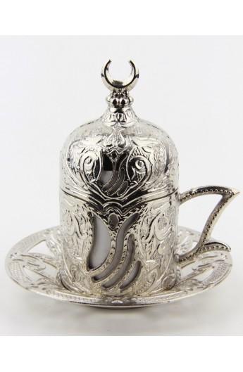 Bronze Turkish tea and coffee glass gold