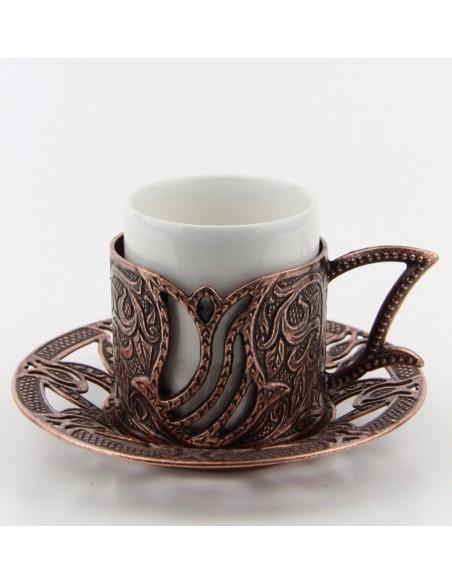 Bronze Turkish tea and coffee glass black