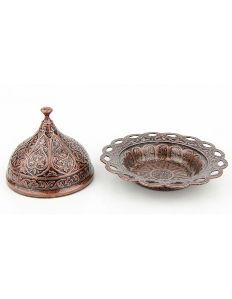 Bronze Turkish tea and coffee glass double red